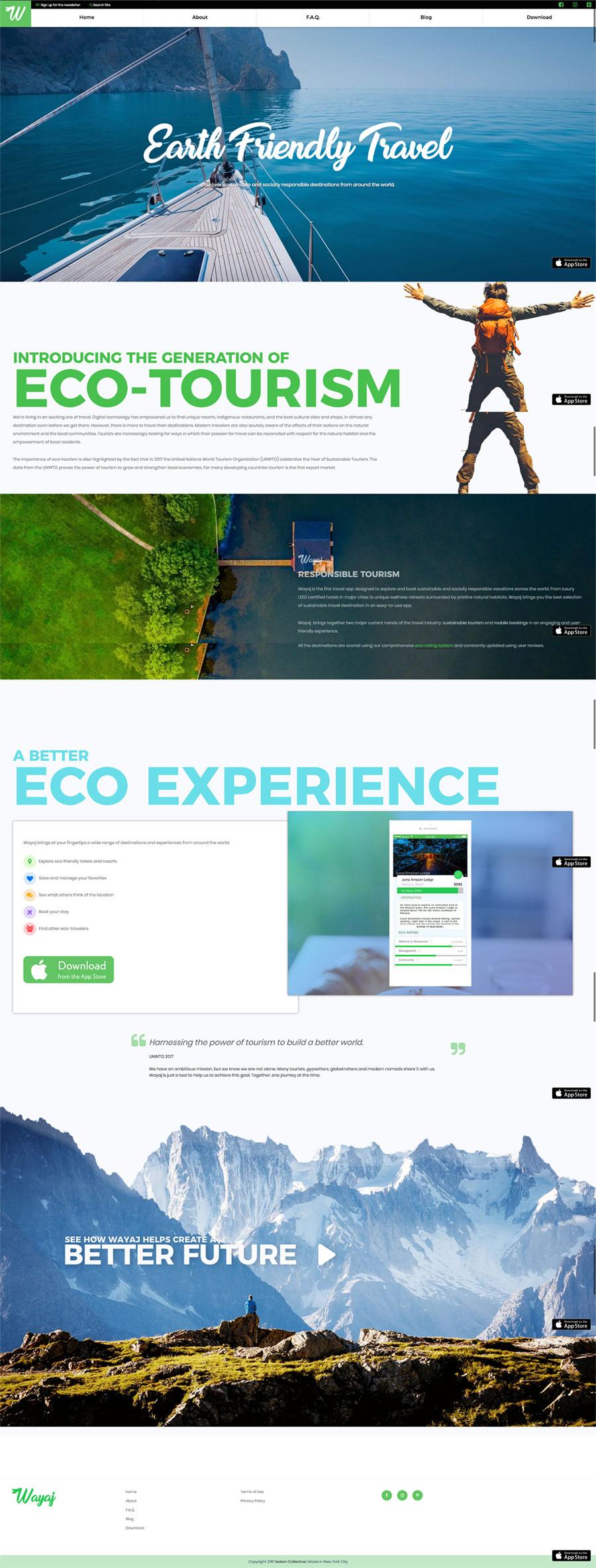 Web design: Wayaj website