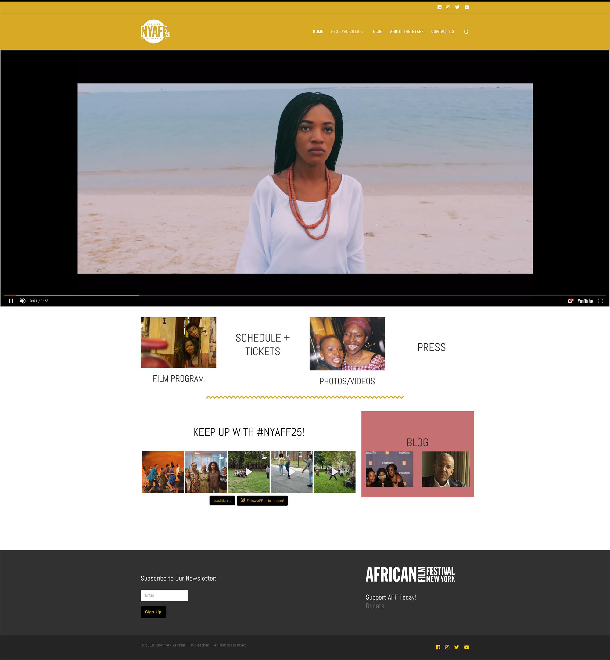 African Film Festival 2018 site